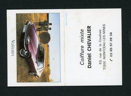 CALENDRIER PETIT FORMAT 2 VOLETS 2001 DISTRIBUÉ PAR COIFFURE DANIEL CHEVALIER À MONTCEAU LES MINES - Tamaño Pequeño : 1991-00