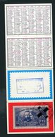 CALENDRIER PETIT FORMAT 4 VOLETS 1980 DISTRIBUÉ PAR CABINET DE TRANSFUSION SANGUINE À MONTCEAU LES MINES - Calendars