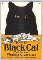 NUGERON NOS PUBLICITES  J 85 PUB Publicité BLACK CAT Virginia Cigarettes Carreras Ltd London (CHAT) *PRIX FIXE - Publicité