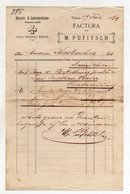 """Austria - Villach - Fattura Della Ditta """" M. Pufitsch """"  Con Ricevuta Di Impostazione Datata  19/7/1899 - (FDC9977) - Autriche"""