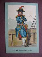 IMAGE CHROMO REGIMENT FRANCAIS N° 39 MARINE GUERRE Amiral 1796 SOLDAT UNIFORME MILITAIRE TOP Dessin & Couleurs - Artis Historia