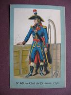 IMAGE CHROMO REGIMENT FRANCAIS N° 40 MARINE GUERRE Chef De Division 1796 SOLDAT UNIFORME MILITAIRE TOP Dessin & Couleurs - Artis Historia