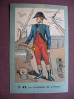 IMAGE CHROMO REGIMENT FRANCAIS N°41 MARINE GUERRE Lieutenant De Vaisseau SOLDAT UNIFORME MILITAIRE TOP Dessin & Couleurs - Artis Historia