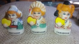 3 Fèves Collection Région Bretagne Champagne Camargue - Regions