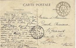 1903 - C P A  -Challans Et Env. -passage Du Marais à La Yole- Affr. 10 C Oblit. Facteur Receveur De ST GERVAIS / VENDEE - Marcophilie (Lettres)