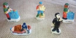 5 Fèves Collection Des Metiers Volailler - Pecheur - Proviseur Camelot (2) - Characters