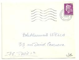VIENNE - Dépt N° 86 = CHATELLERAULT Ppal 1968 = FLAMME Codée = SECAP Muette '5 Lignes Ondulées' - Postmark Collection (Covers)