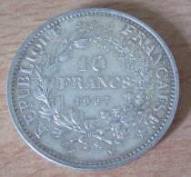 France - Monnaie 10 Francs Hercule 1967 En Argent - SUP+ - France