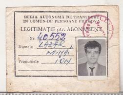 Romania Ploiesti RATP Id Card - Europe