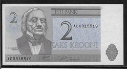Estonie - 2 Krooni - Pick N°70a - NEUF - Estonie