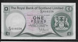 Ecosse - 1 Pound - Pick N°336 - NEUF - Bankbiljetten