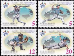 Taiwan 2001 34th World Baseball Championship Cup 21st Asia Tournament Sports Game Taipei Stamps MNH Sc#3388-91 - 1945-... Republic Of China