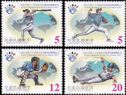 Taiwan 2001 34th World Baseball Championship Cup 21st Asia Tournament Sports Game Taipei Stamps MNH Sc#3388-91 - Games