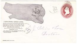 1886 Illustrierte Ganzsache 2c. (Hercules), Von Concord Nach Boston - ...-1900