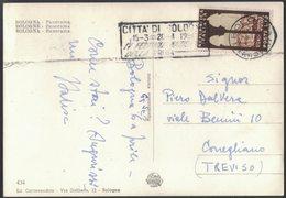 AM55   BOLOGNA 1954 - ANNULLO MECCANICO PUBBLICITARIO - TARGHETTA 4° FESTIVAL NAZIONALE DELLA PROSA - 6. 1946-.. Repubblica