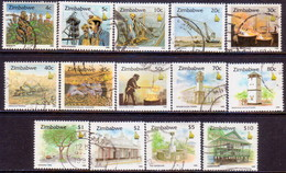 ZIMBABWE 1995 SG #891-903 Compl.set With Only 3 First Stamps Missing Used Culture - Zimbabwe (1980-...)