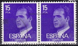 Spagna, 1976/77 - 15p King Juan Carlos, Coppia  - Nr.1985 Usato° - 1875-1882 Regno: Alfonso XII