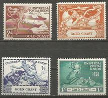 Gold Coast - 1949 UPU Anniversary MH *    Sc 144-7  SG 149-52 - Gold Coast (...-1957)