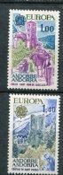 7207  ANDORRE   N° 261/2**   Paysages Europa  1977    TTB - Andorre Français