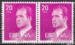 Spagna, 1985/92 - 20p King Juan Carlos, Coppia - Nr.2432 Usato° - 1875-1882 Regno: Alfonso XII