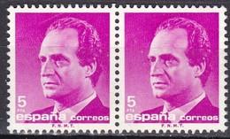 Spagna, 1985/92 - 5p King Juan Carlos, Coppia - Nr.2420 Usato° - 1875-1882 Regno: Alfonso XII