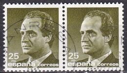 Spagna, 1985/92 - 25p King Juan Carlos, Coppia - Nr.2433 Usato° - 1875-1882 Regno: Alfonso XII