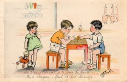 M.Jacobs Style Germaine Bouret, Enfants, Jeu De Dés. - Illustrateurs & Photographes