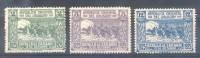 URUGUAY CENTENARIO DE LA BATALLA DE SARANDI 1825-1925 YVERT NRS. 307-09 MH COMPLETE SET SERIE COMPLETA AVEC CHARNIERE - Uruguay
