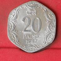 INDIA 20 PAISE 1987 -    KM# 44 - (Nº23081) - India