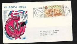 Lettre Illustrée Europa 1962 Circulée Monte Carlo 19/6/1970 N° 823 Et Flamme 4eme Exposition Du Commerce Et Industrie TB - Europa-CEPT