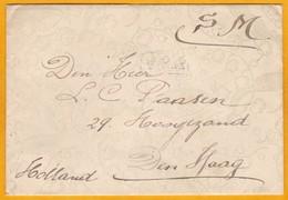 191? - Enveloppe Décorée Du Camp D' Auvours, Sarthe,  Base Arrière Des Alliés Dont Armée Belge Vers Den Haag/La Haye - 1. Weltkrieg 1914-1918