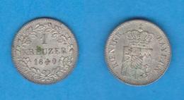 ALEMANIA / GERMANY  (Estados Alemanes/German States) BAVARIA Bayern 1 Kreuzer 1.840 Plata Km#422 EBC DL-12.191 - [ 1] …-1871 : Estados Alemanes