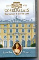 Dresden Zündholzschachtel Coselpalais Restaurant & Grand Cafe - Cajas De Cerillas (fósforos)