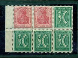 Deutsches Reich, Germania, HBL 35 A, Postfrisch ** - Zusammendrucke
