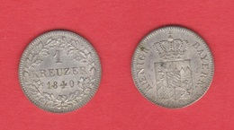 ALEMANIA / GERMANY  (Estados Alemanes/German States) BAVARIA Bayern 1 Kreuzer 1.840 Plata Km#422 EBC DL-12.192 - [ 1] …-1871 : Estados Alemanes