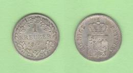 ALEMANIA / GERMANY  (Estados Alemanes/German States) BAVARIA Bayern 1 Kreuzer 1.841 Plata Km#422 EBC+ DL-12.193 - Monedas Pequeñas & Otras Subdivisiones