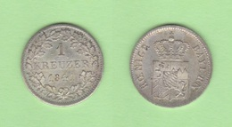 ALEMANIA / GERMANY  (Estados Alemanes/German States) BAVARIA Bayern 1 Kreuzer 1.841 Plata Km#422 EBC+ DL-12.193 - [ 1] …-1871 : Estados Alemanes