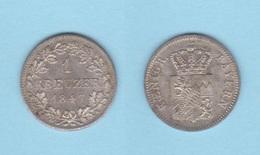 ALEMANIA / GERMANY  (Estados Alemanes/German States) BAVARIA Bayern 1 Kreuzer 1.847 Plata Km#422 EBC+ DL-12.194 - Monedas Pequeñas & Otras Subdivisiones