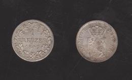 ALEMANIA / GERMANY  (Estados Alemanes/German States) BAVARIA Bayern 1 Kreuzer 1.847 Plata Km#422 EBC+ DL-12.196 - Monedas Pequeñas & Otras Subdivisiones