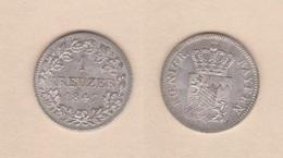 ALEMANIA / GERMANY  (Estados Alemanes/German States) BAVARIA Bayern 1 Kreuzer 1.847 Plata Km#422 EBC DL-12.197 - [ 1] …-1871 : Estados Alemanes