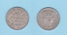 ALEMANIA / GERMANY  (Estados Alemanes/German States) BAVARIA Bayern 1 Kreuzer 1.847 Plata Km#422 EBC/SC DL-12.198 - [ 1] …-1871 : Estados Alemanes
