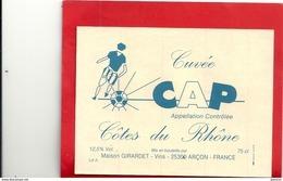 CUVEE CAP .. FOOTBALLEUR   .. 12,5°  .. 75cl - Soccer