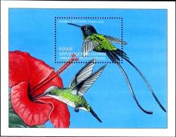 HUMMINGBIRDS-HUMMINGBIRDS OF THE CARIBBEAN-BLACK BILLED STREAMERTAIL-MS-GUINEA-2002-SCARCE-MNH-M2-109 - Marine Web-footed Birds