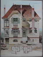 PLANCE ARCHITECTURE L'HABITATION PRATIQUE 38.5X31.5 CM -  COTTAGE A LA BAULE      ==  2 SCANS - Architecture
