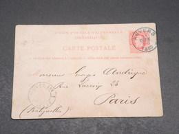 BELGIQUE - Entier Postal D 'Anvers Pour Paris En 1880 - L 17665 - Stamped Stationery