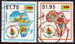 ZIMBABWE 1995 SG #911-12 Part Set 2 Stamps Of 6 Used All-Africa Games - Zimbabwe (1980-...)
