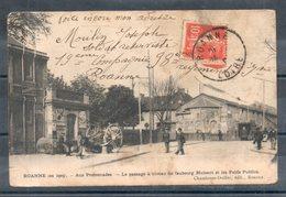 42. Roanne. Aux Promenades. Le Passage à Niveau Du Faubourg Mulsant. Mauvais état - Roanne