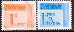 ZIMBABWE 1985 SG #D28,D32 1c, 13c Used Postage Dues - Zimbabwe (1980-...)