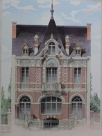 PLANCE ARCHITECTURE L'HABITATION PRATIQUE 38.5X31.5 CM - HOTEL PRIVE A VICHY   ==  2 SCANS - Architecture