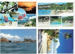Lot 4 Cpm -  Afrique > Seychelles - PRASLIN Anse Lazio La Digue île Coco - Seychelles
